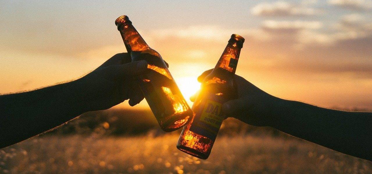 Beer Cheers Sunset Sunlight  - Free-Photos / Pixabay