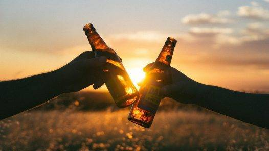 Beer Cheers Sunset Sunlight  - Free-Photos / Pixabay